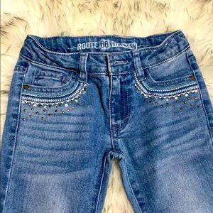Girls size 7 Route 66 jeans - skinny's. Brand new